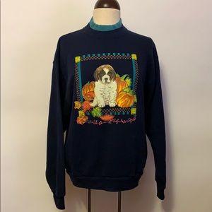 Vintage Dog Harvest Fall Sweatshirt